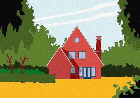 tekening achtergevel villa